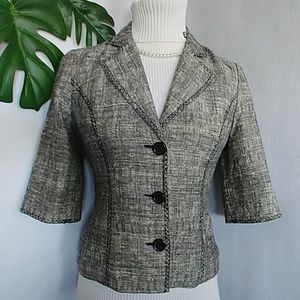 White House Black Market Linen Blazer Jacket